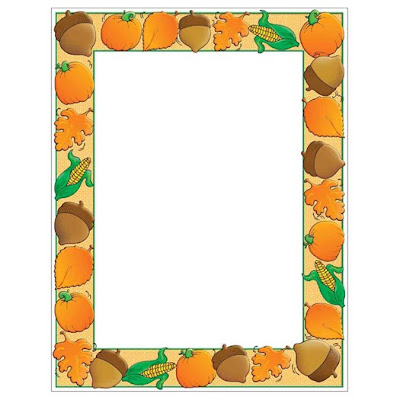 Autumn Harvest Thanksgiving Fall Border Paper