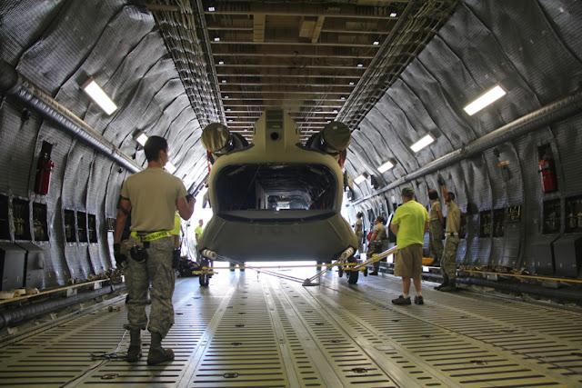 CH-47F in a C-5 Galaxy