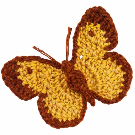 Crochet Nature Motif: Clouded Yellow Butterfly