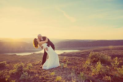 Cave B/Sagecliffe sunset -  Heather and Matt kiss
