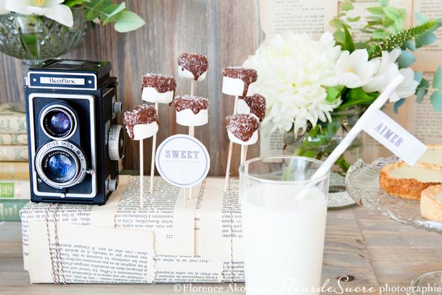 table à desserts romance