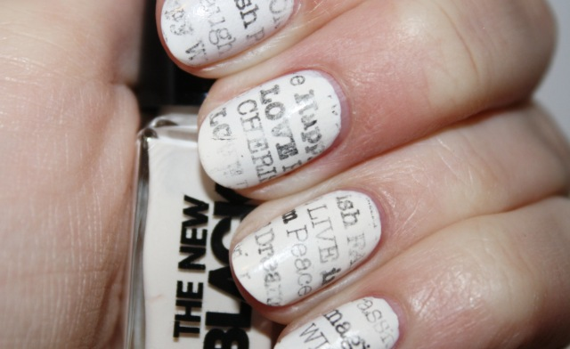 Nail art designs using newspaper cool newspaper nail art ideas cool newspaper nail art ideas view images prinsesfo Images