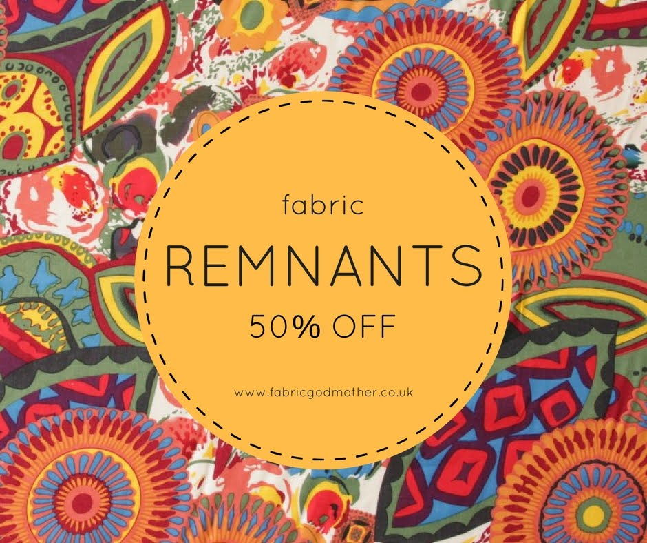 Fabric godmother remnant sale now on 50 off fabrics for Fabric remnants