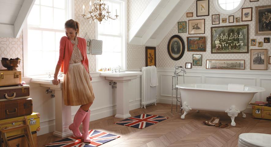 thiết kế phòng tắm đẹp mang thiên hướng cổ điển
