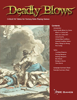 Deadly Blows - Critical Hit Tables for Fantasy Role-Playing Games