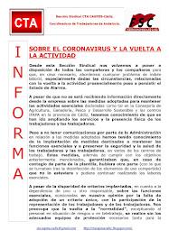 SOBRE EL CORONAVIRUS Y LA VUELTA A LA ACTIVIDAD