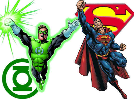 Superman vs green lantern - photo#14