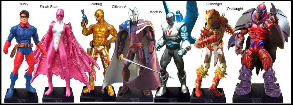 <b>Wave 57</b>: Bucky, Dinah Soar, Goldbug, Citizen V, Mach IV, Killmonger and Onslaught