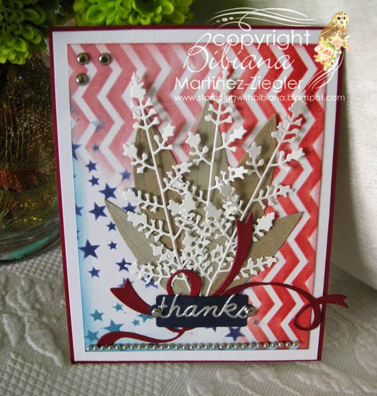 bouquet for veterans day card front