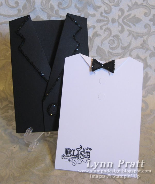 Stamp-n-Design: Tuxedo Cards for Convention