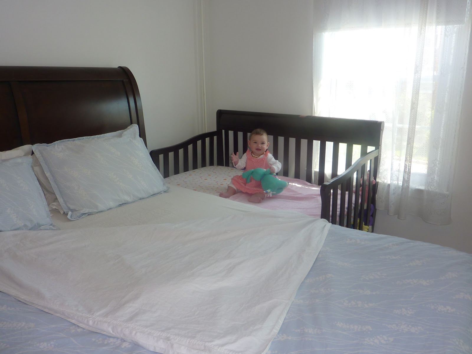 deluxe foam to l cots co sleep baby next bed mattress crib sleeping cribs view larger cot chicco white position me bedside