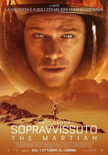 Sopravvissuto The Martian recensione poster