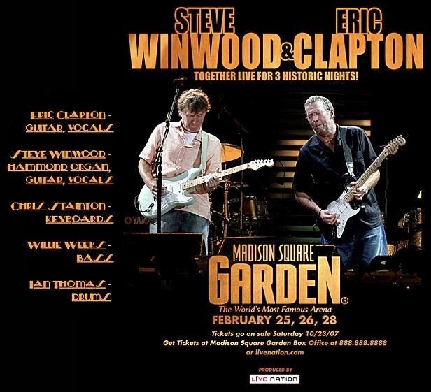 Bootleg Addiction Eric Clapton Steve Winwood Madison Square Garden 2008