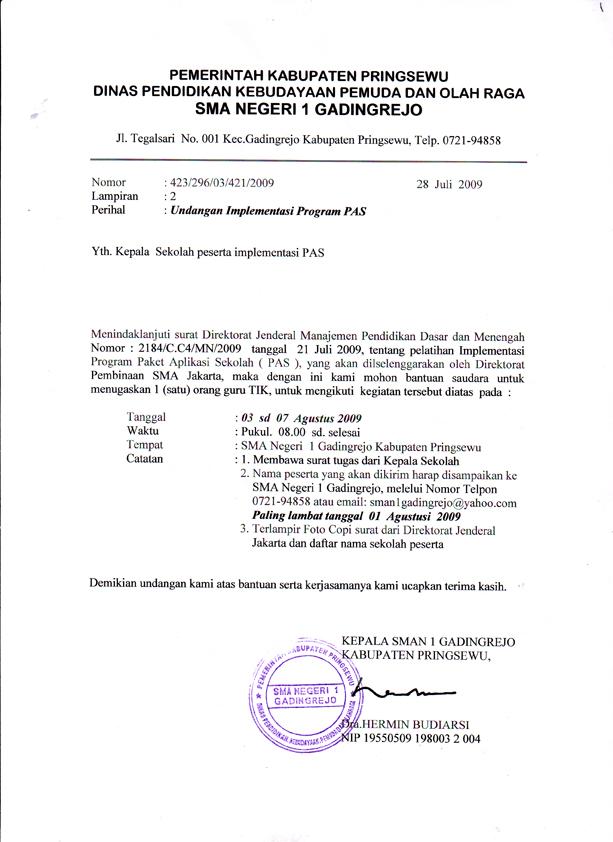 contoh undangan resmi