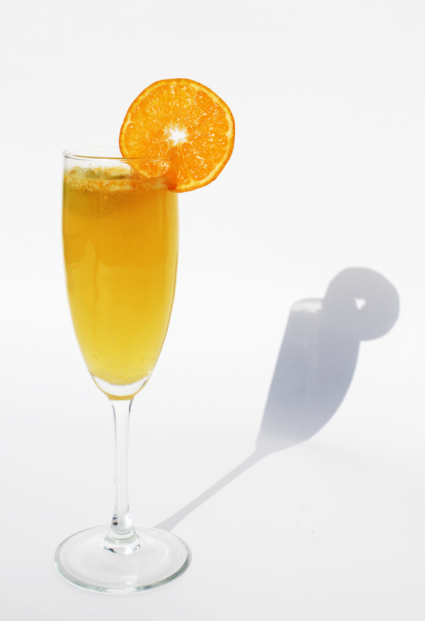 Fashionably Bombed: Tangerine Ginger Champagne Cocktail/Mocktail