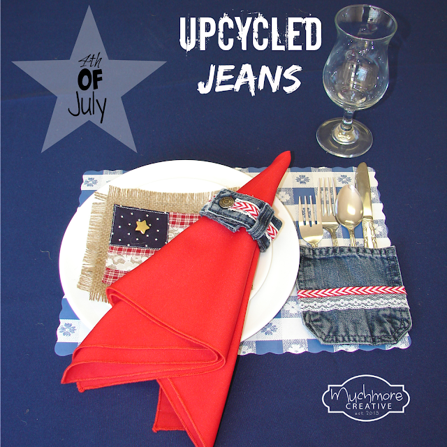 4th of July napkin ring utensil holder