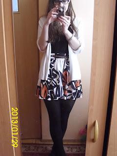 Black-orange-white czyli wtorkowy outfit :)