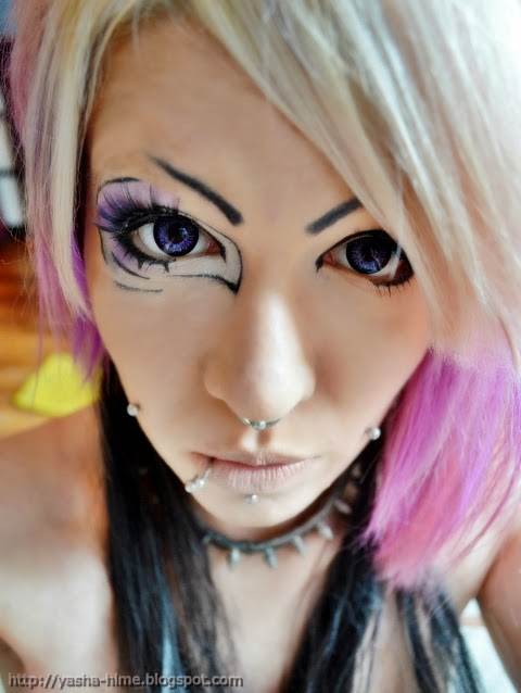 I.Fairy Ash Violet colored contacts
