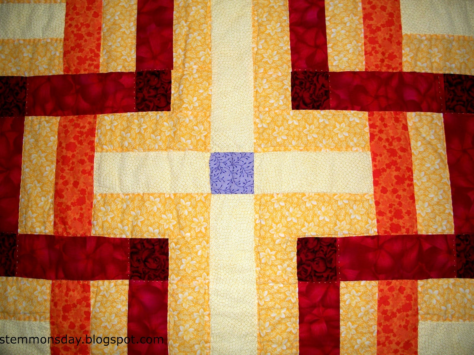 Stemmons day jacob 39 s window quilt for Window quilt