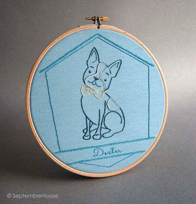 boston terrier embroidery pattern for hand embroidery