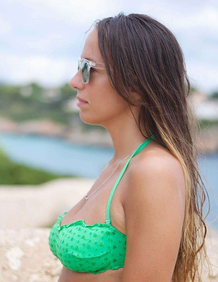 acid green bikini top