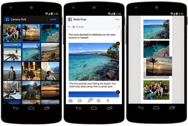 fotos facebook atualiza app
