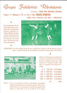 Grupo Folclorico Ribatejano Vila Franca de Xira Cartaz Publicitario 1992