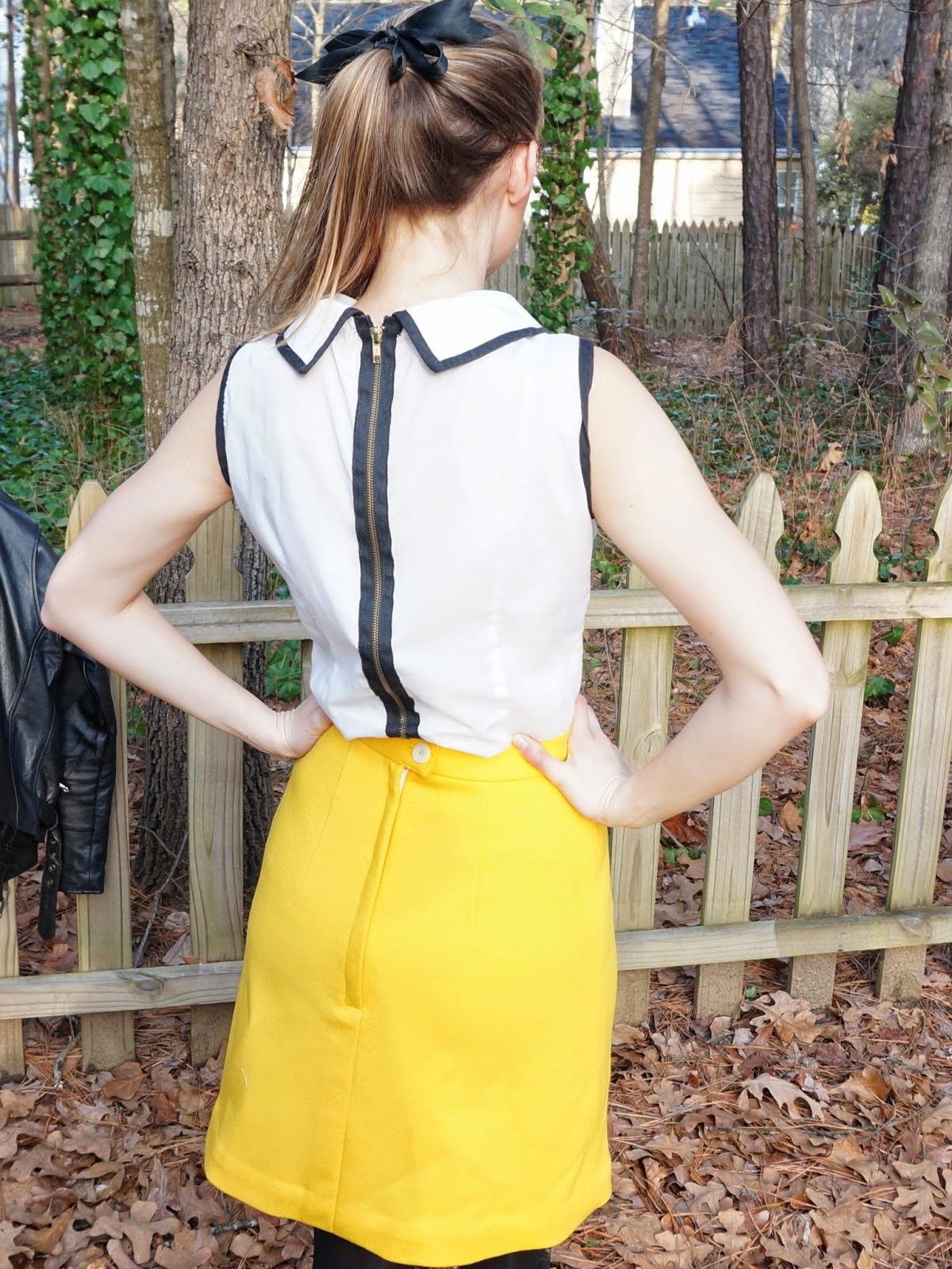 January Sunshine! yellow wool a-line vintage skirt | allie J. (alliemjackson.com)