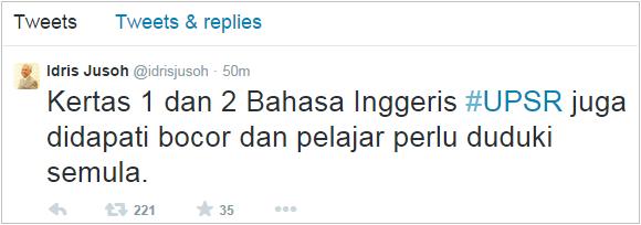Berita Terkini Soalan Bahasa Inggeris BI UPSR 2014 Bocor