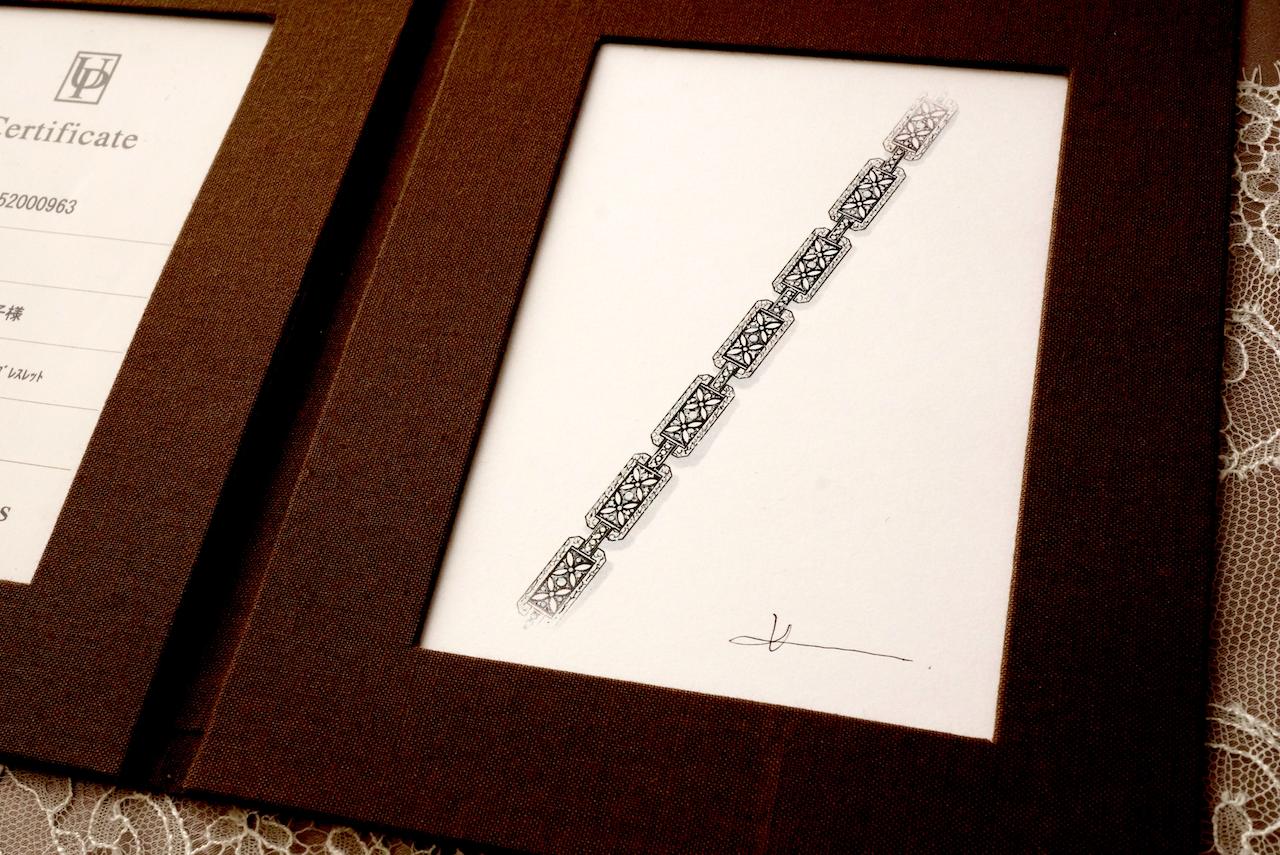 フルオーダー品にはデザイナーからデザイン画のプレゼントがあります。