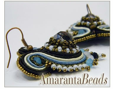 Jewelry -Winter Sea -Soutache Earrings
