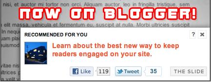 Sliding related post widget for Blogger