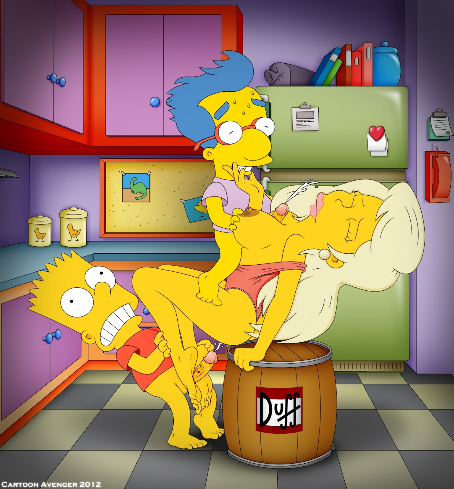 shauna and porn Simpsons bart
