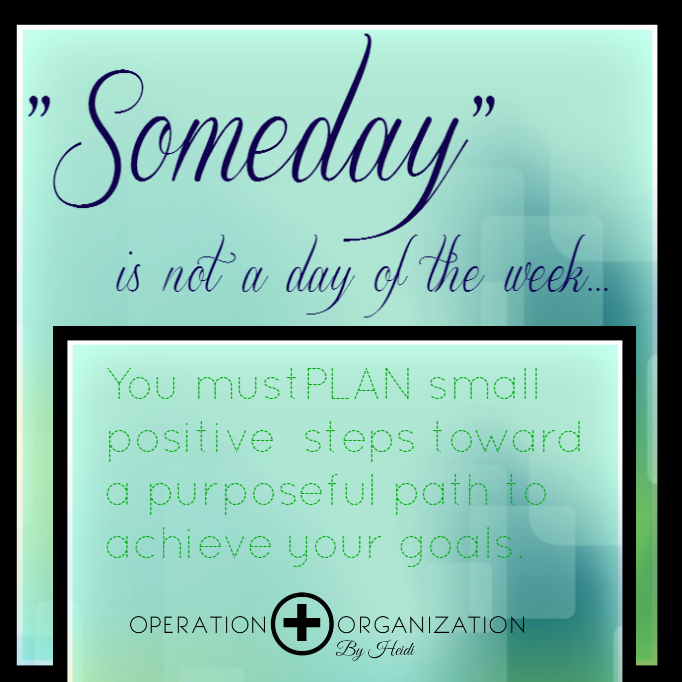 Professional Organizer Peachtree City, Newnan, Fayetteville, Senoia Make Plans to achieve goals