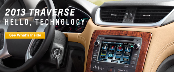 2013 Chevrolet Traverse Technology Keeps You Connected