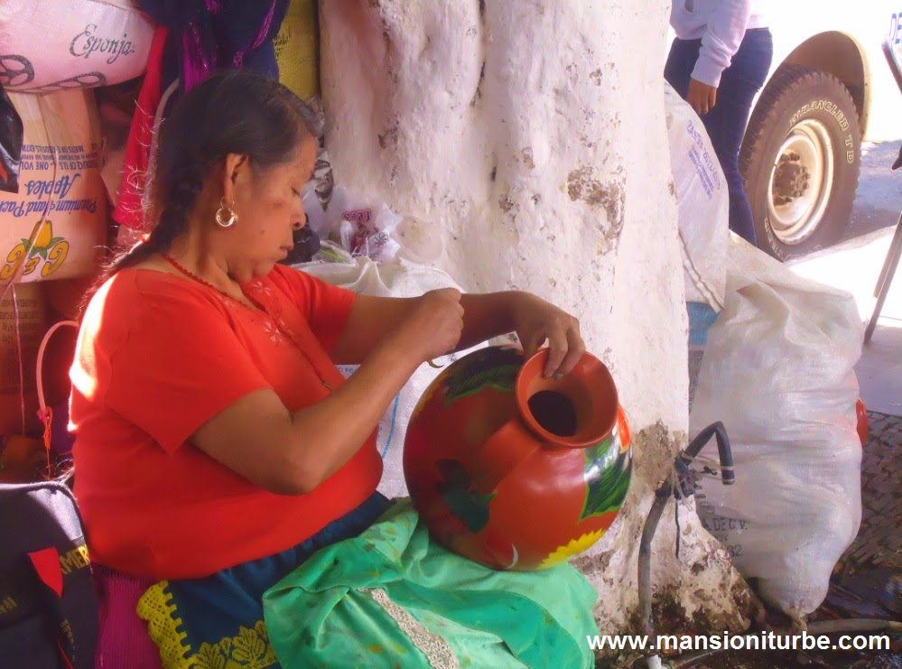 Mexican Artisan in Uruapan at Palm Snday Artisan Fair