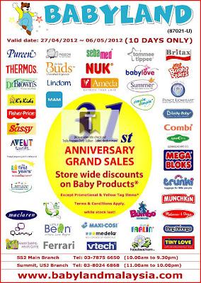 Babyland 31st Anniversary Grand Sales
