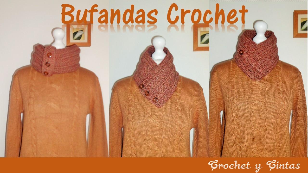 Bufanda cuello tejida a crochet
