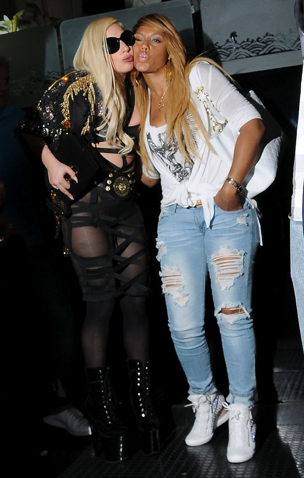 Tamar Braxton and Lady Gaga