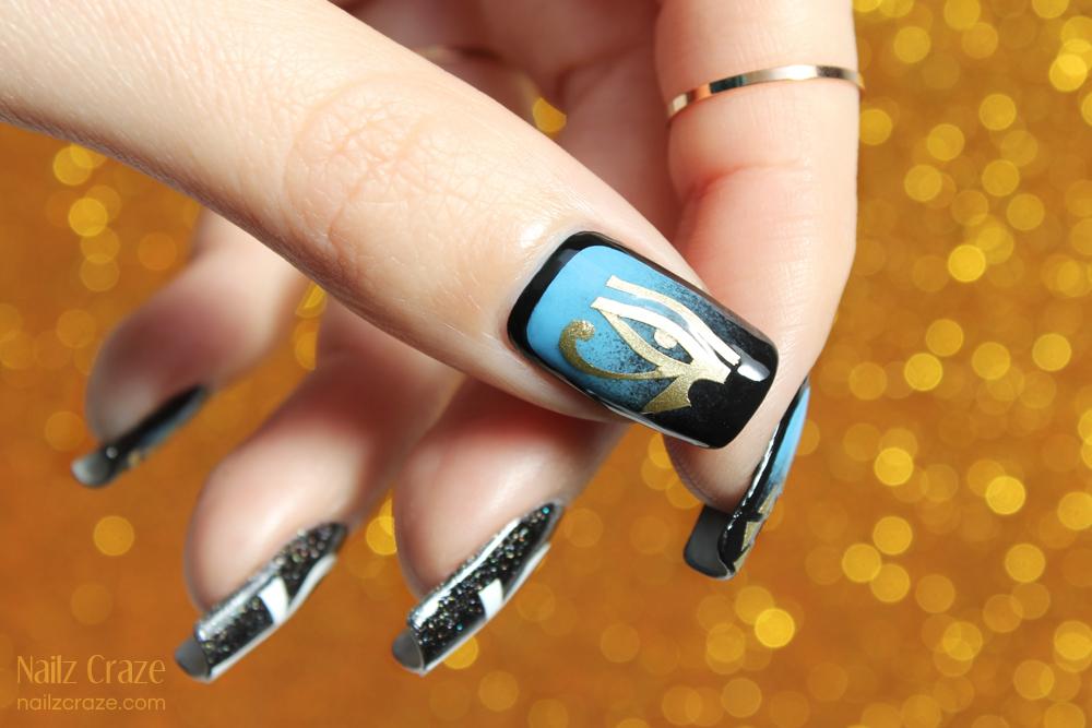Egyptian Themed Nail Art Nailarts Ideas