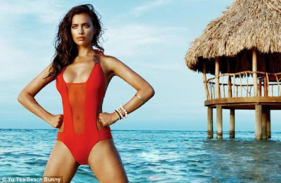 Russian supermodel Irina Shayk show off her sexy body for Beach Bunny new swimwear collection