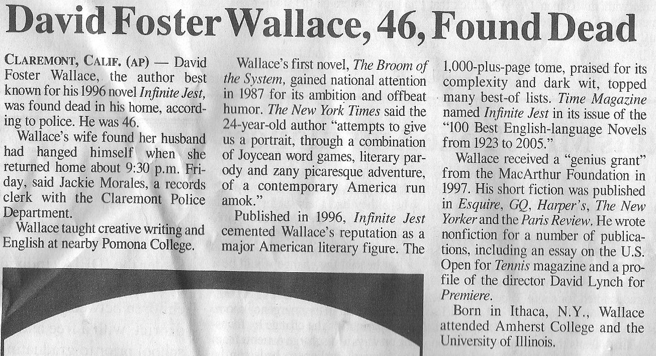 david foster wallace senior thesis In his superb and highly sophisticated review of david foster wallace  more or less as argued by wallace's thesis:  his senior thesis at amherst.