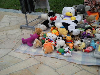 Flea Market selling soft toys