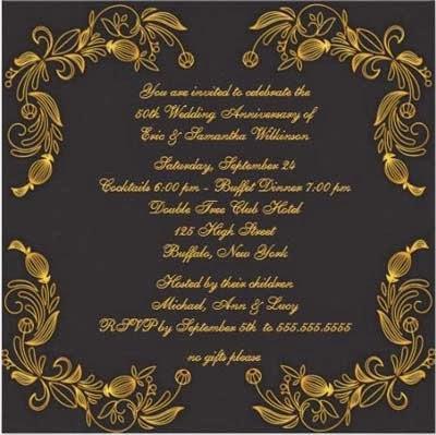 Convite de aniversário de casamento