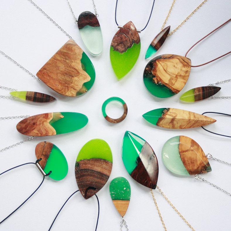 Fragmentos de madera dentados encuentran nuevo propósito cuando se fusionan con resina