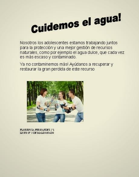 Informatiquisimo2013: Afiche sobre el cuidado del agua hecho por ...