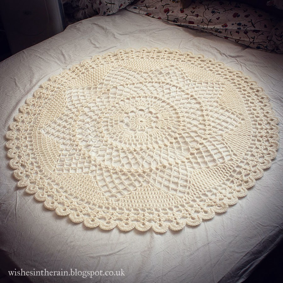 circular lace crochet throw