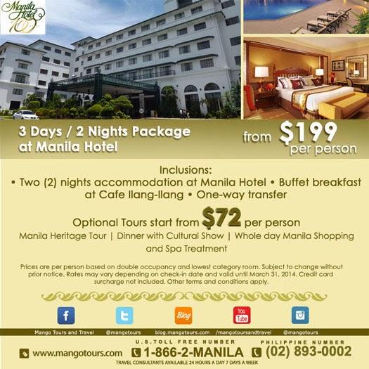 Mango Tours Manila Hotel Package