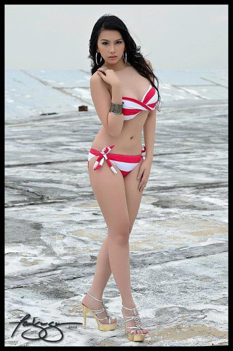 sexy barbie san miguel red bikini pics 04