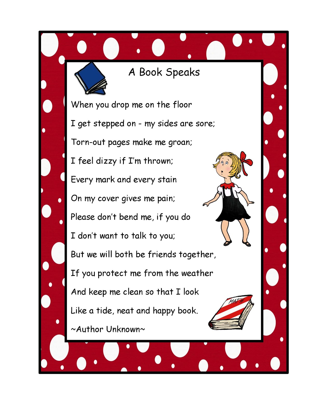 Kindergarten Poetry Book Cover : Bookmarks book care and on pinterest